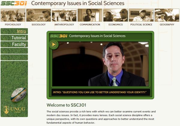 UNCG Social Sciences Concentration introductory page