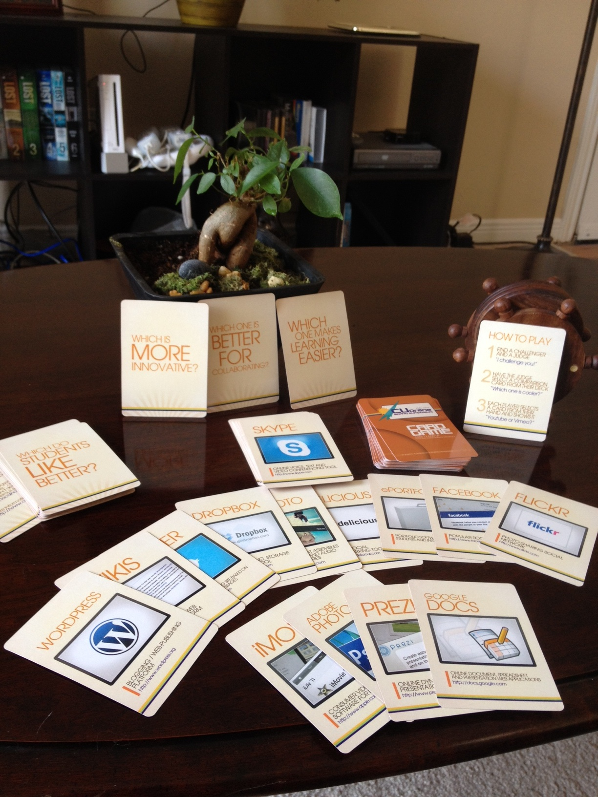 academic technology card game