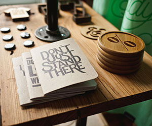 "Photo: Booklet on Table ""Don't Just Stand There"""