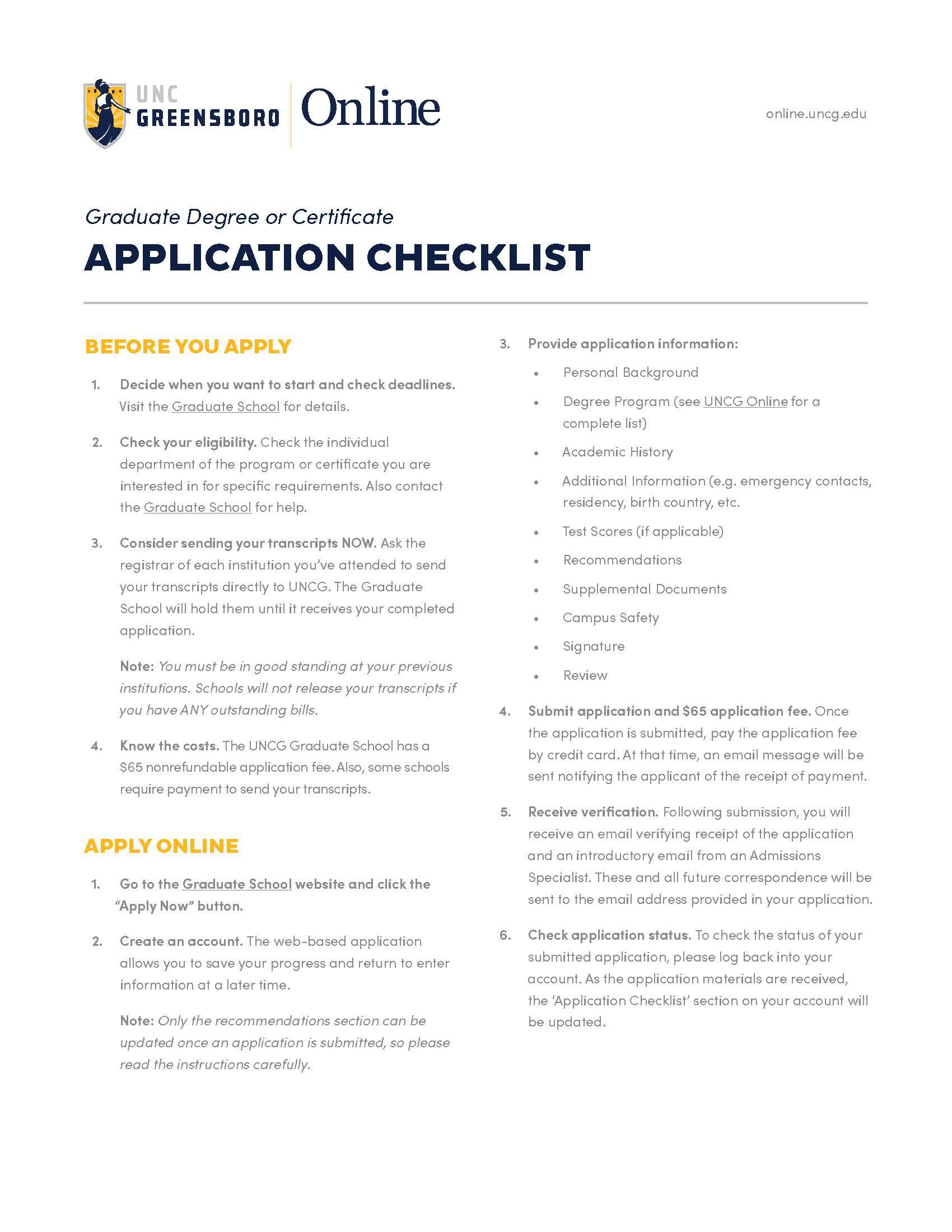 UO GR Application Checklist Thumb