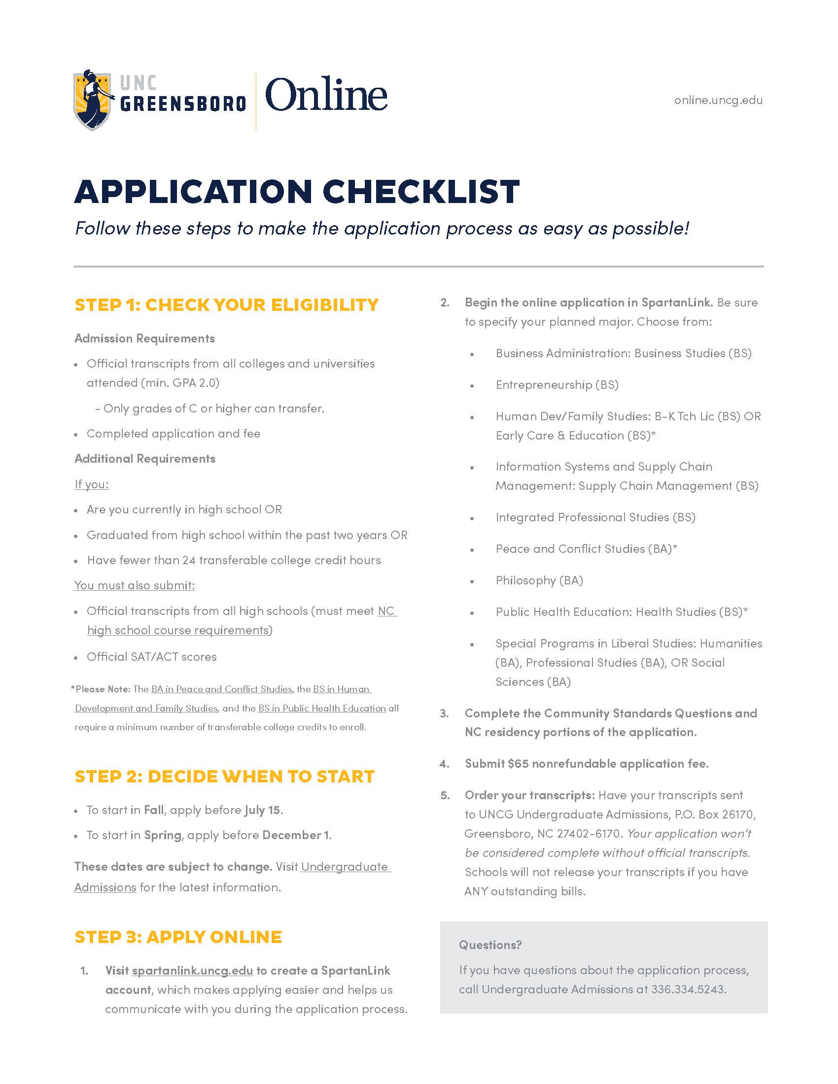 UO UG Application Checklist Thumb