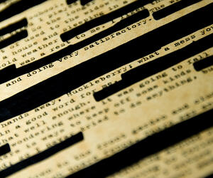 Photograph of redacted text