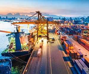 Image of Busy Shipping Port