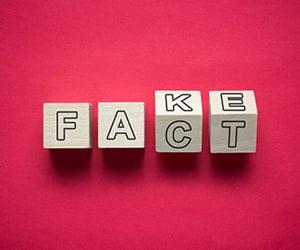 Blocks that turn from Fake to Fact