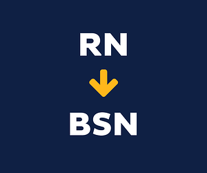 RN arrow pointing to BSN