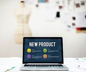 Photo of laptop with New Product Plan featured